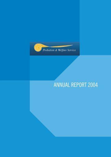 ANNUAL REPORT 2004 - The Probation Service