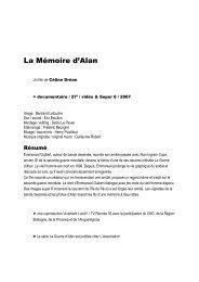 La Mémoire d'Alan - Vivement Lundi