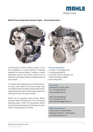 MAHLE Downsizing Demonstrator Engine – Second Generation