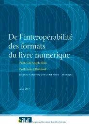 De l'interopérabilité des formats du livre numérique - Centre du Livre ...