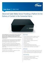 Data Sheet - Pace DMC7000 Cable Media Server