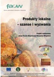 Produkty lokalne – szanse i wyzwania - KSOW