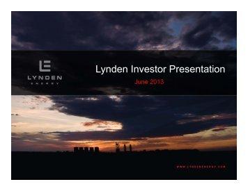 Lynden Investor Presentation - Caster Management System
