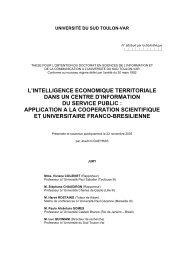 L'intelligence économique territoriale dans un centre d ... - CRRM à