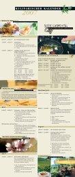 2007 kulinarischer kalender - Hotel Steinbuck