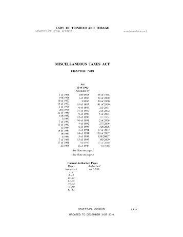 Miscellaneous Taxes Act - Intax Info