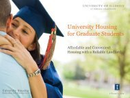 University Housing for Graduate Students - The Graduate College at ...