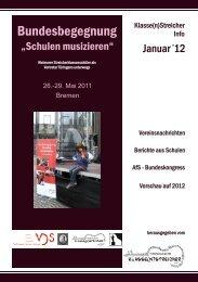 Klasse(n)Streicher Info Januar 2012 - Streicherklassen.de