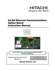 SJ-EN Instruction Manual - Hitachi America, Ltd.