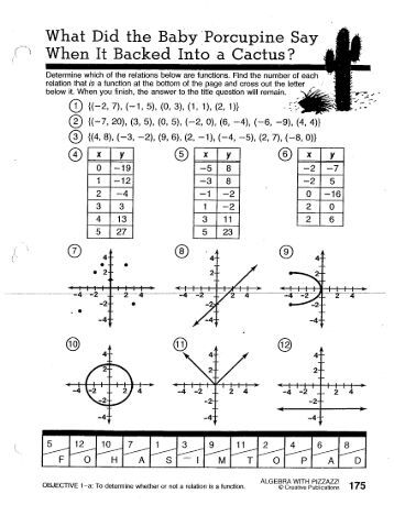 Printables Algebra With Pizzazz Worksheets pizzazz math worksheets algebra intrepidpath with worksheet answers page 34 worksheets