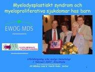 Myelodysplastiskt syndrom - BLF