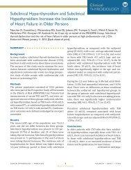 Subclinical Hyperthyroidism and Subclinical Hypothyroidism ...