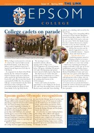 College cadets on parade - Epsom College