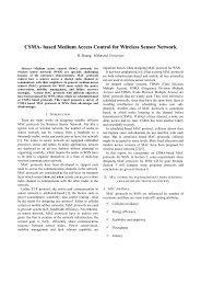 CSMA- based Medium Access Control for Wireless Sensor Network