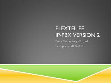 PLEXTEL-EE IP-PBX Software Version 2