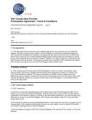 ECCNet User Agreement Type 1 - GS1 Canada