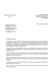 Lettre envoyée à la Secrétaire d'Etat aux Aînés - Conseil National de ...