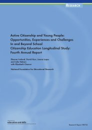 Active Citizenship and Young People: Opportunities, Experiences ...