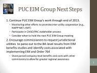PUC EIM Group Next Steps