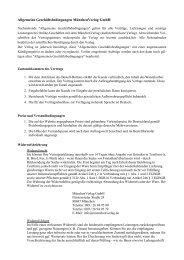 Allgemeine Geschäftsbedingungen MünchenVerlag GmbH