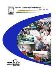 Gaceta Informativa Trimestral - Gobierno del Estado de Morelos