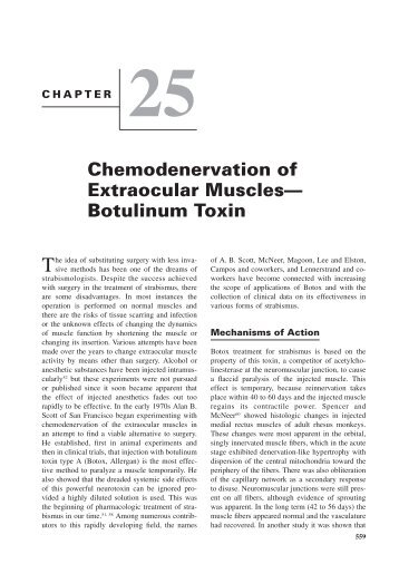 Chemodenervation of Extraocular Muscles— Botulinum Toxin