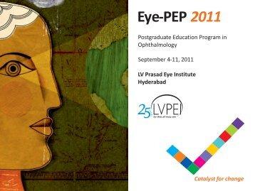 Eye PEP 2011 Brochure (8 x 6 inches) - LV Prasad Eye Institute