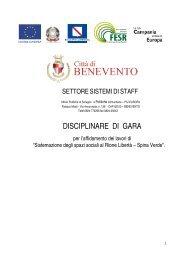 DISCIPLINARE DI GARA - Comune di Benevento