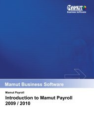 Introduction to Mamut Payroll