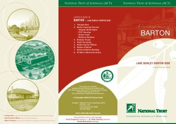 NT - BARTON 1 brochure [09-2009] - National Trust of Australia