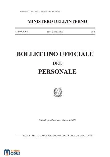 bollettino ufficiale personale - Pubblicazioni Ufficiali dello Stato