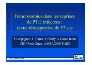 Fémorotomies dans les reprises de PTH infectées - ClubOrtho.fr