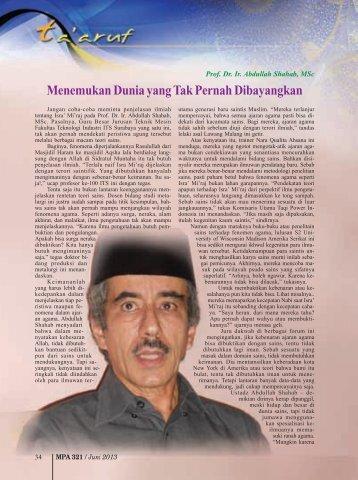Prof. Dr. Ir. Abdullah Shahab, MSc - Kemenag Jatim