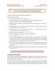 TP 4 : ANALYSE EN COMPOSANTES ... - imagine - ENPC