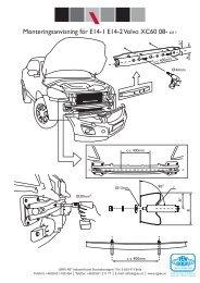 Monteringsanvisning för E14-1 E14-2 Volvo XC60 08- sid 1