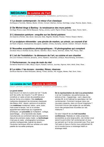 Document - Connaissance de l'Art Contemporain