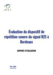 Évaluation du dispositif de répétition sonore du signal R25 ... - cfpsaa