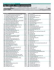 Top 100 U.S. metro economies - U.S. Conference of Mayors