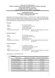 Gedung SME TOWER Lt. 7,8,9 dan 17 Jl. Gatot - LKPP