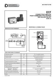 des valves on-off 49 310/113 fd - Duplomatic