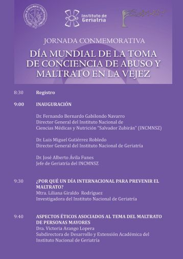Descargar Programa PDF - Instituto Nacional de Geriatría