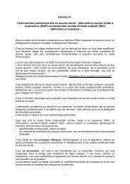 Intervention sociale d'aide à la personne (ISAP) - Canalblog