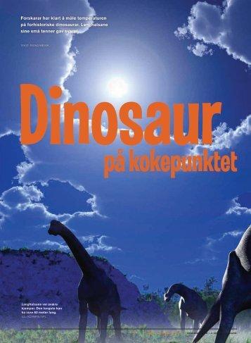Dinosaur på kokepunktet (pdf) - Nysgjerrigper