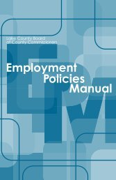Employment Policies Manual - Lake County