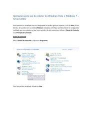 Utilização do coletor em Windows Vista/Windows 7