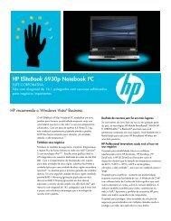 HP EliteBook 6930p Notebook PC - Produtos