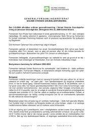 Referat ordinær generalforsamling - Solrød Strands Grundejerforening
