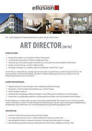 Art Director (m/w) - zur Stellenanzeige - Ellusion