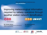 Improving Meteorological Information Required by Railway ...