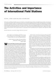 The Activities and Importance of International Field Stations